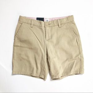 Gap Girl Mid Rise Classic Chino Shorts